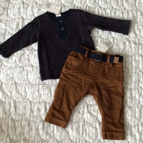 62c1c2cb6 H&M Matching Sets | Hm Baby Boy Outfit W Lined Pants Nwt | Poshmark